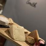 三種チーズの盛り合わせ